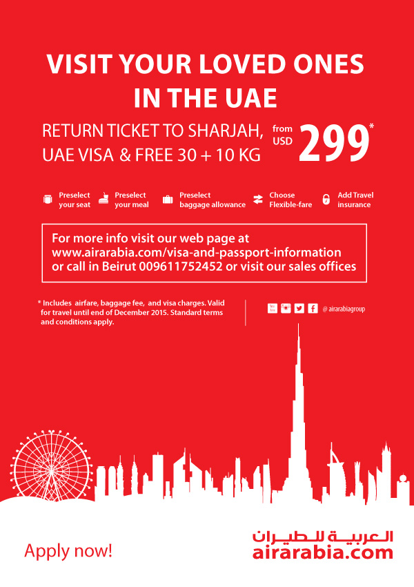 Visit your loved ones in the UAE!