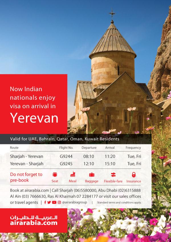 Indian Nationals Enjoy Visa On Arrival Air Arabia