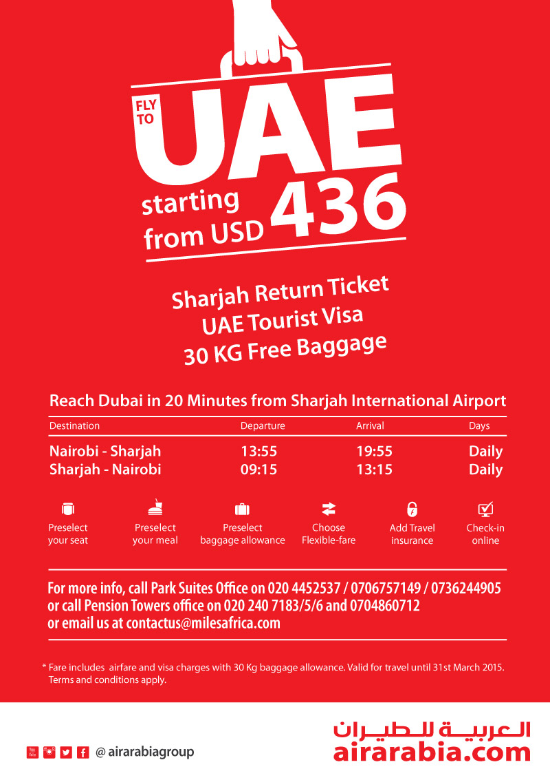Fly to UAE starting from USD 436!