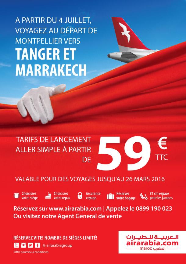Nouvelles Destinations Au Depart De Montpellier Air Arabia
