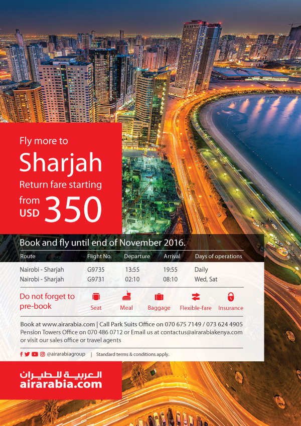 Fly more to Sharjah