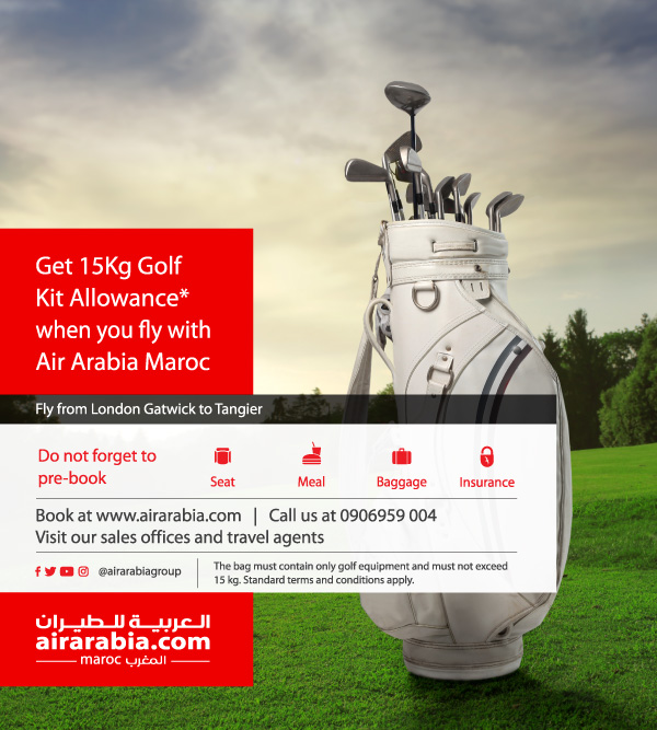 Get 15 Kg Golf kit allowance