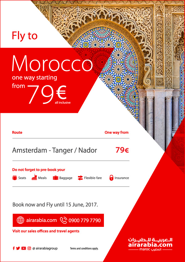 Fly to Morocco starting from 79€ one way, all inclusive!