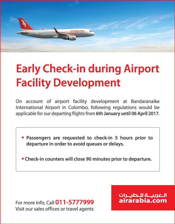 Early check-in during airport facility development