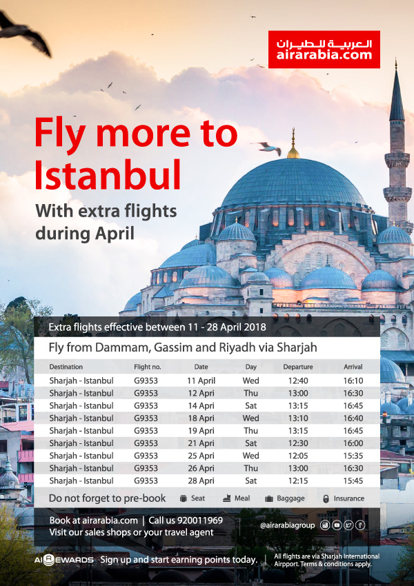 Fly more to Istanbul