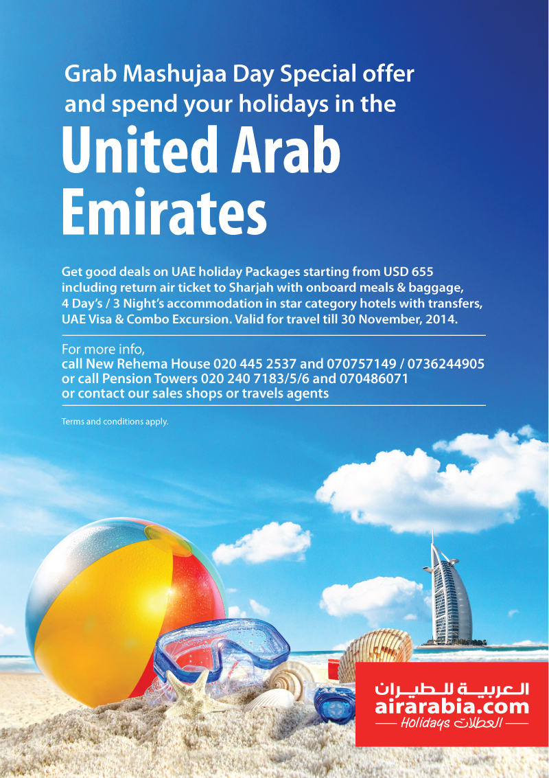 Gradb Mashujaa Day Special offer and spend your holidays in the United Arab Emirates! Get good deals on UAE holiday packages starting from USD 655!