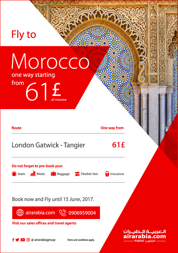 Fly to Morocco starting from 61€ one way, all inclusive!