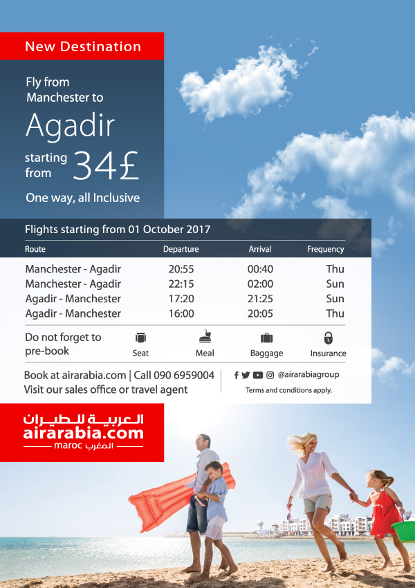 Fly from Manchester to Agadir