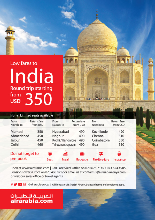 Low fares to India