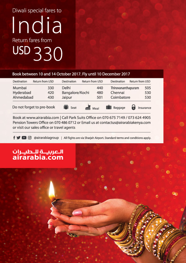 Diwali special fares to India