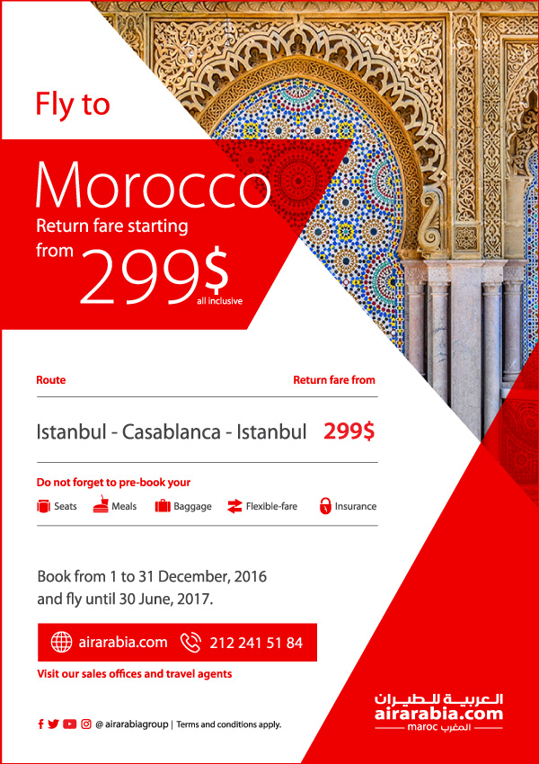 Fly to Morocco