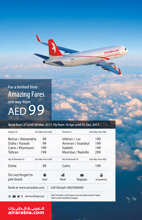 Amazing fares from UAE