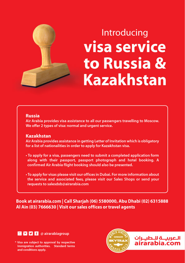Introducing Visa service to Russia & Kazakhstan