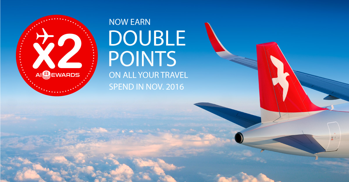 Fly with Air Arabia during November 2016 and earn Double AIREWARDS Points on all your travel spend