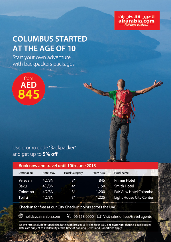 Start your own adventure with backpackers packages